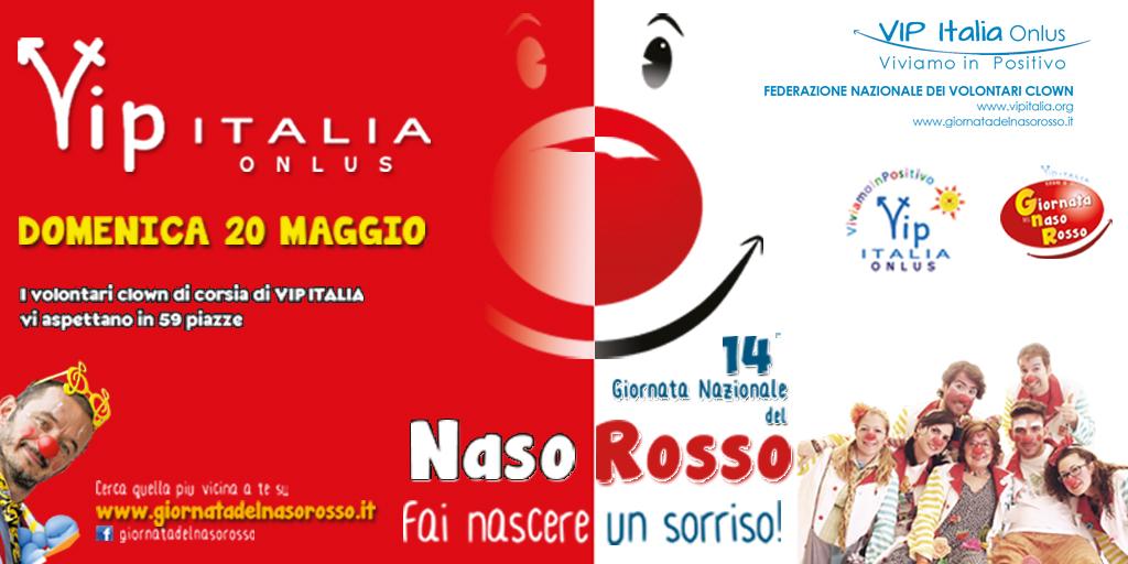 Clown naso rosso Vip Italia onlus